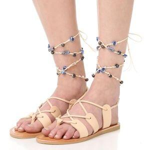 NWOB Dolce Vita Jalen Leather Flat Sandals Sz.8.5